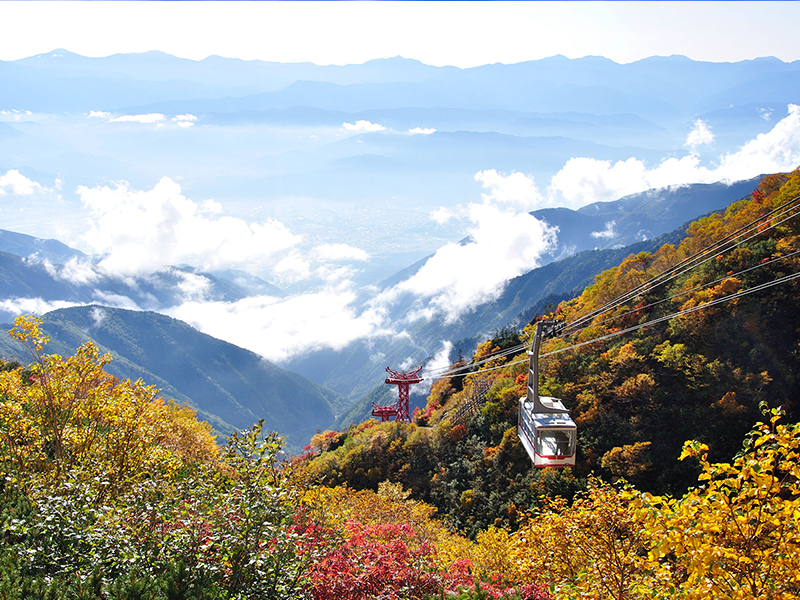 The beginning of October: Ropeway and Southern Alps