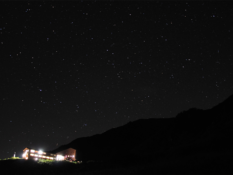 The middle of September: Hotel Senjojiki and starlit sky