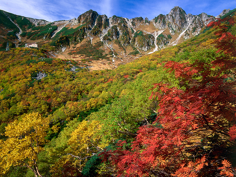 The end of September: Senjojiki Cirque in autumn